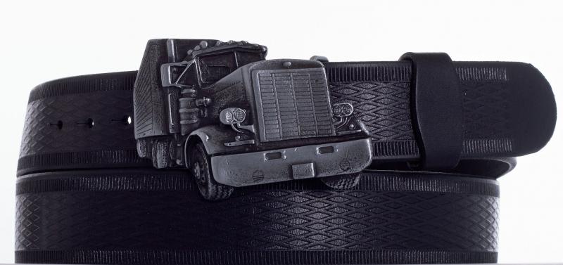 Kožené opasky - opasek kamion vroubek
