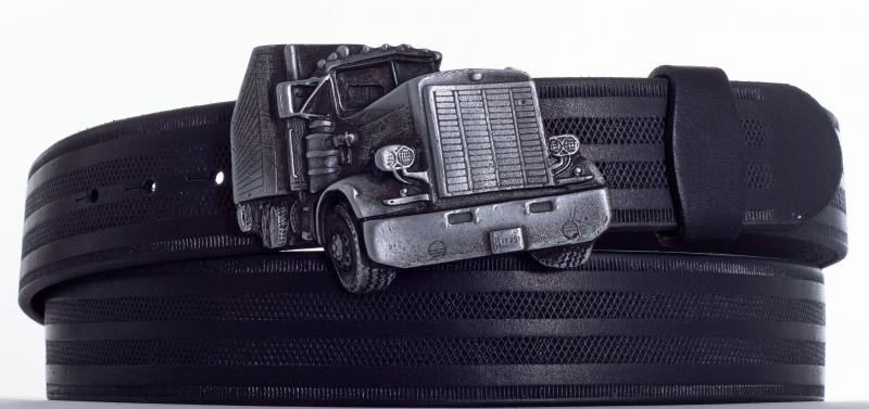 Kožené opasky - Opasek kamion řádek