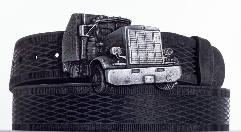 Kožené opasky - Opasek kamion vroubek br.