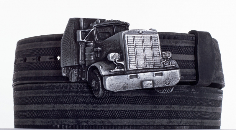 Kožené opasky - Opasek kamion řádek br.
