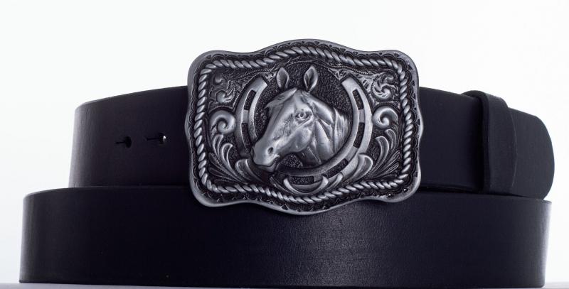 Kožené opasky - opasek kůň