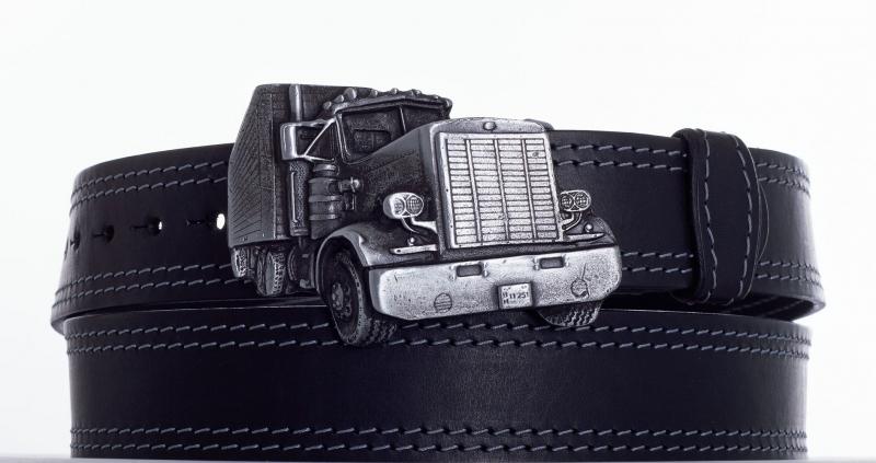 Kožené opasky - Opasek kamion 2ob.š