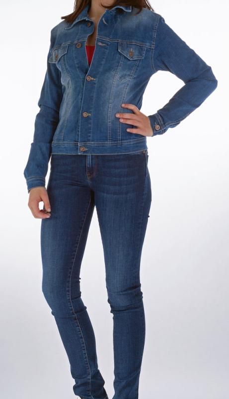 Dámské džíny - Dámská riflová bunda 368