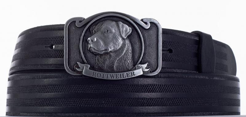 Kožené opasky - Kožený pásek rottweiler proužek