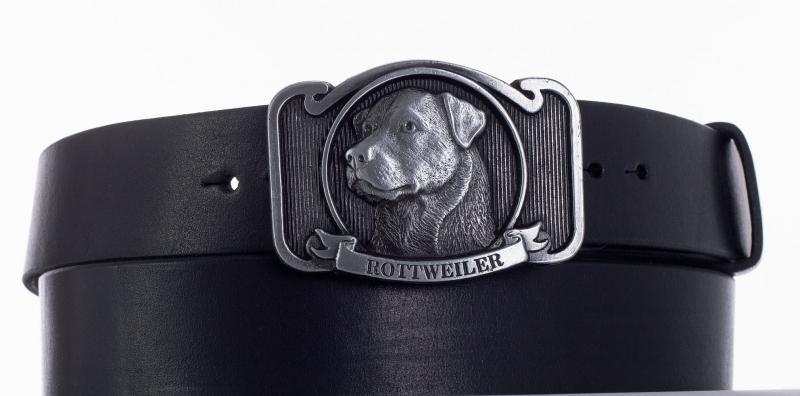 Kožené opasky - Kožený pásek rottweiler