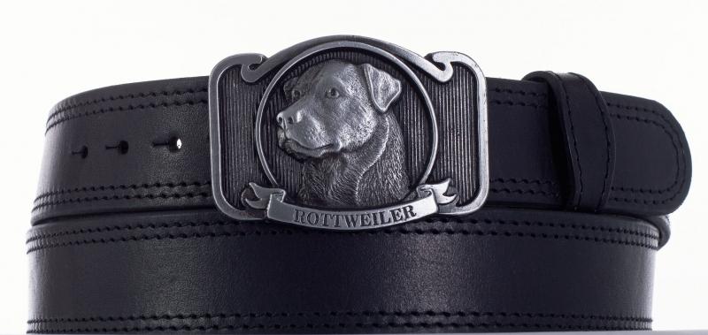 Kožené opasky - Kožený opasek Rottweiler čob2