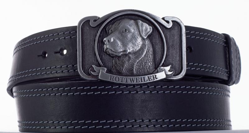 Kožené opasky - Kožený opasek Rottweiler šob2