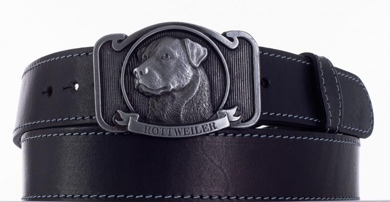 Kožené opasky - Kožený opasek Rottweiler šob