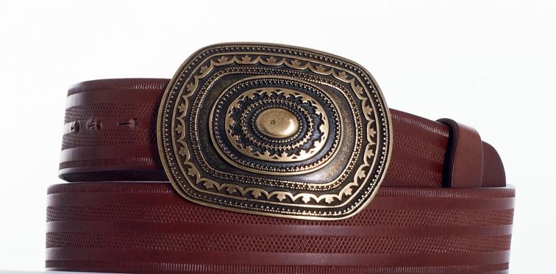 Kožené opasky - Pásek aztec řádek