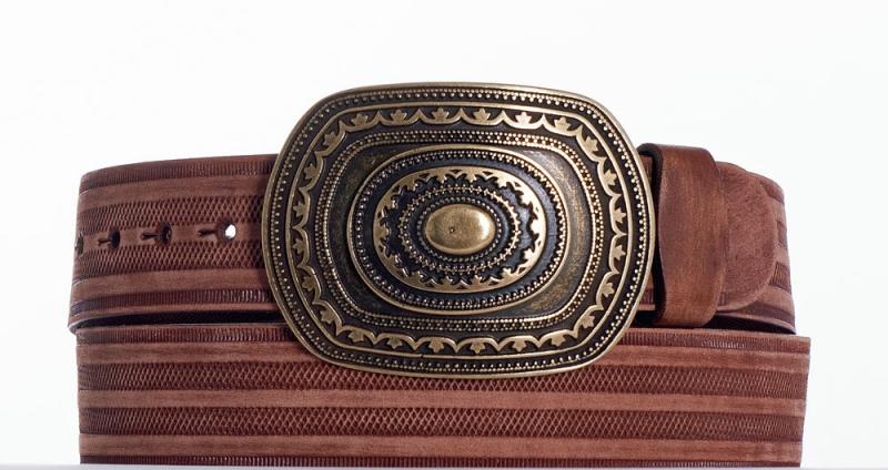 Kožené opasky - Pásek aztec řádek br
