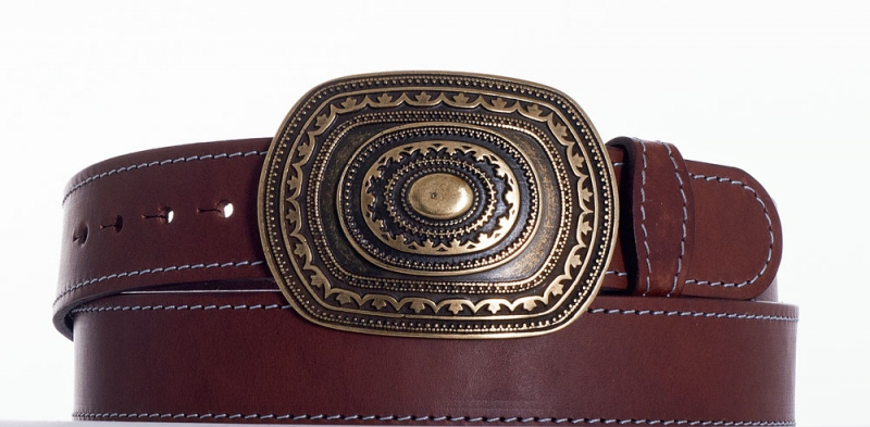 Kožené opasky - Pásek aztec obš