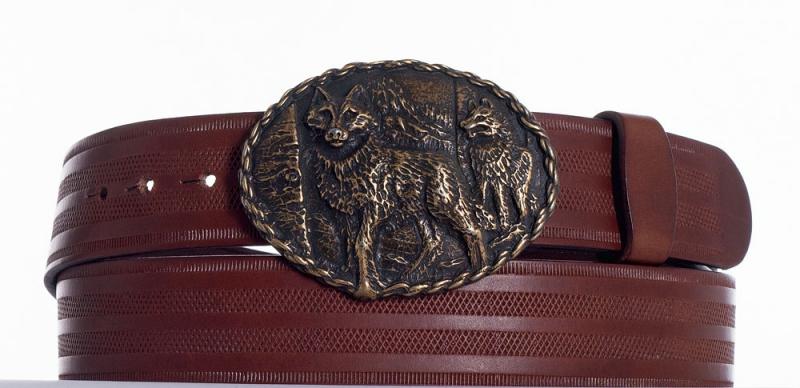 Kožené opasky - Pásek vlci řádek