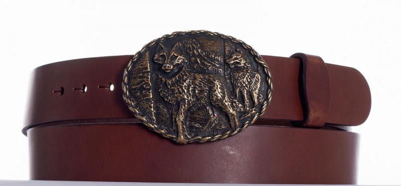 Kožené opasky - Pásek vlci