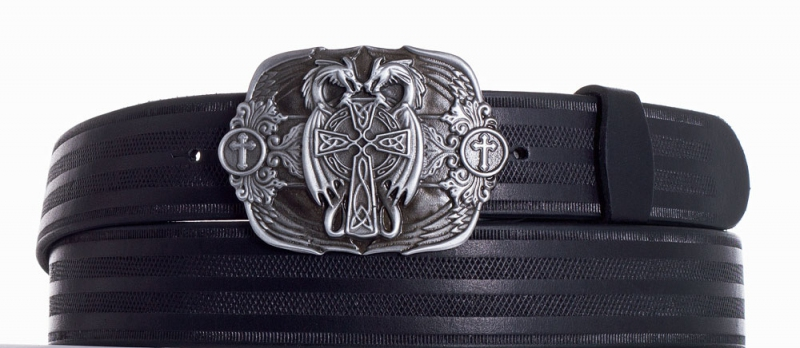 Kožené opasky - Kožený černý pásek draci pr.
