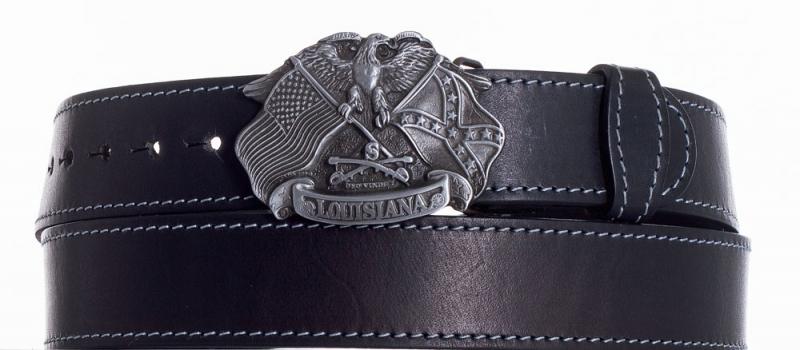 Kožené opasky - Kožený pásek Louisiana prošitý ob. š.