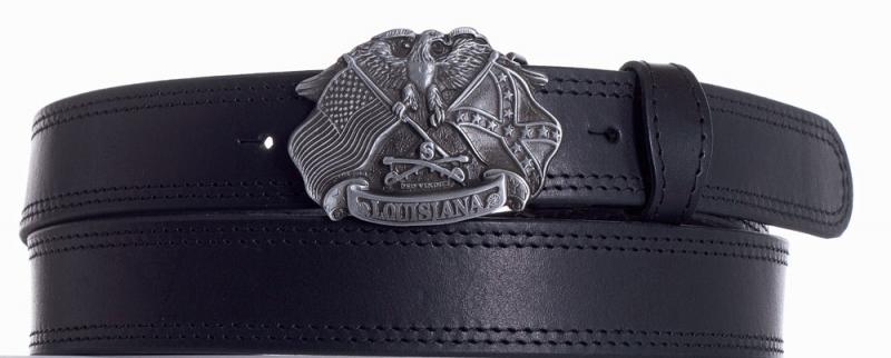 Kožené opasky - Kožený pásek Louisiana prošitý 2ob. č.