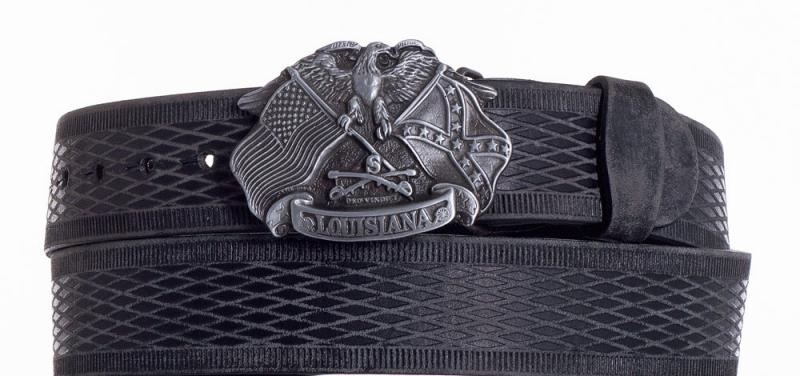 Kožené opasky - Kožený pásek Louisiana vroubek br.