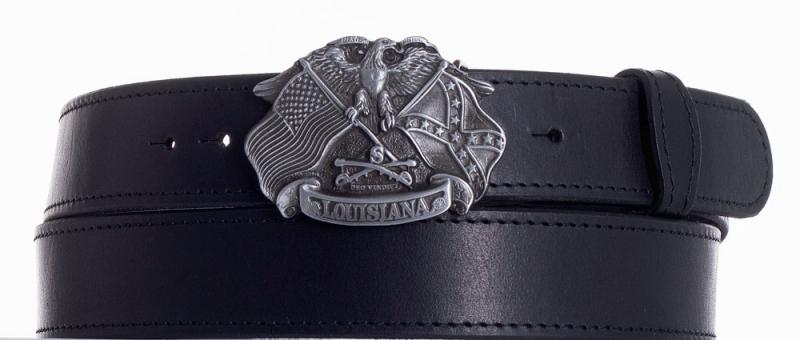 Kožené opasky - Kožený pásek Louisiana prošitý
