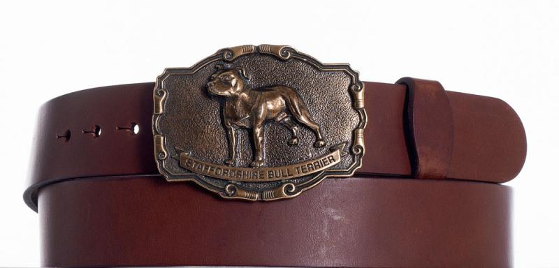 Kožené opasky - Hnědý kožený opasek Staffordshire