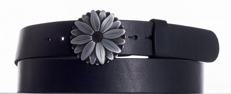 Kožené opasky - Kožený pásek kopretina