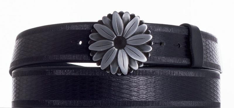 Kožené opasky - Kožený pásek kopretina vr