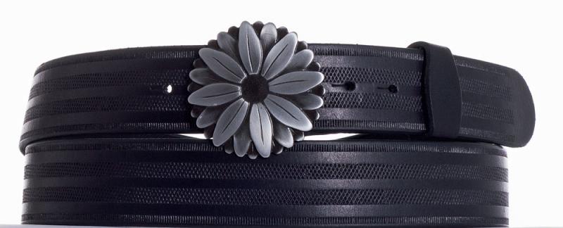 Kožené opasky - Kožený pásek kopretina pr
