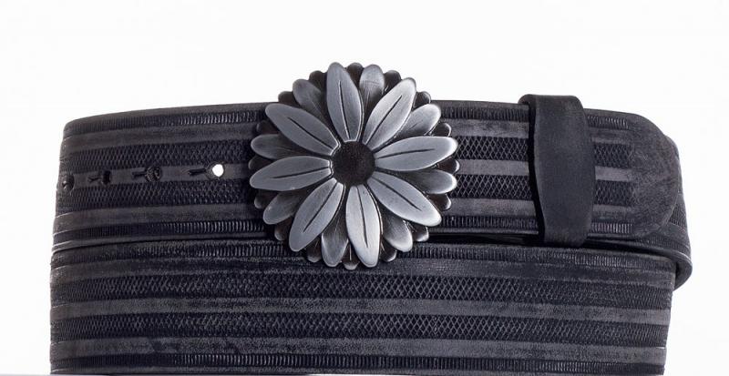 Kožené opasky - Kožený pásek kopretina prb