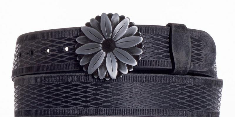 Kožené opasky - Kožený pásek kopretina vrb