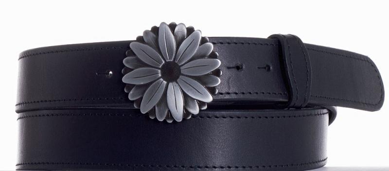 Kožené opasky - Kožený pásek kopretina obč