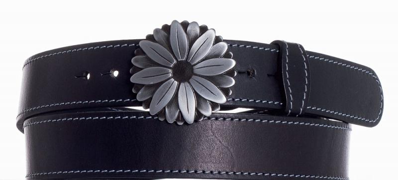 Kožené opasky - Kožený pásek kopretina obš