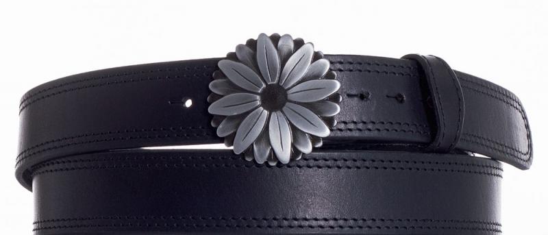 Kožené opasky - Kožený pásek kopretina ob2č