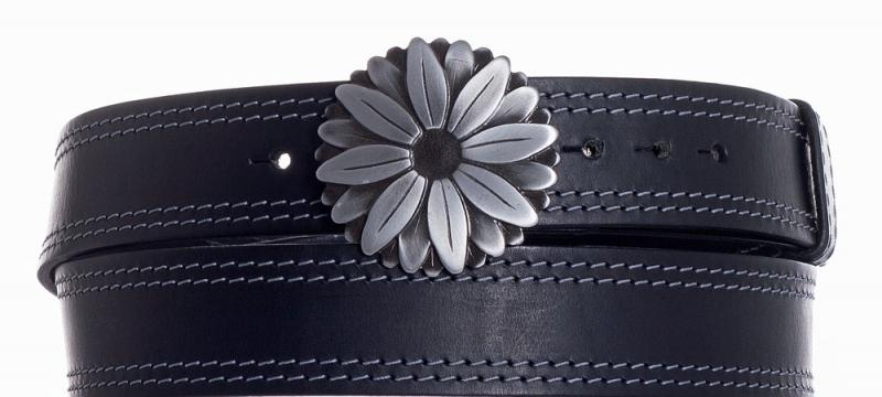 Kožené opasky - Kožený pásek kopretina ob2š