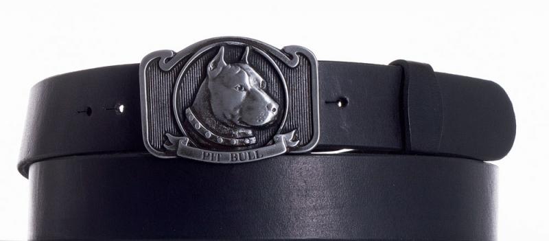 Kožené opasky - Kožený pásek Pitbull