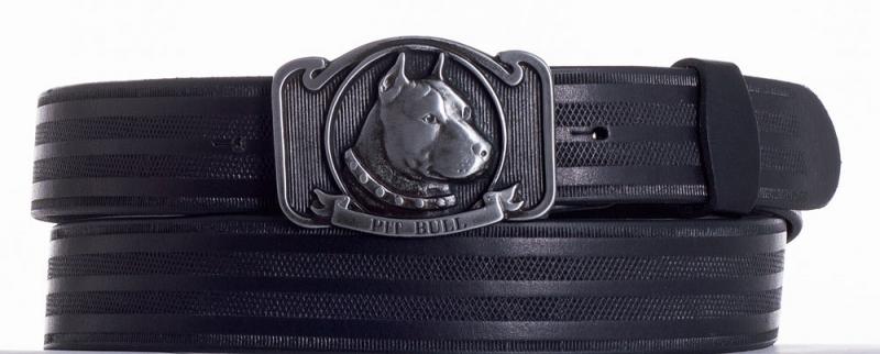 Kožené opasky - Kožený pásek Pitbull pr.