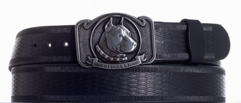 Kožené opasky - Kožený pásek Pitbull vr.