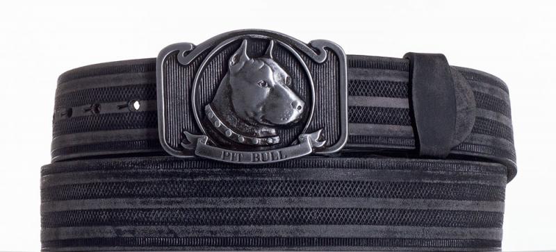 Kožené opasky - Kožený pásek Pitbull prb