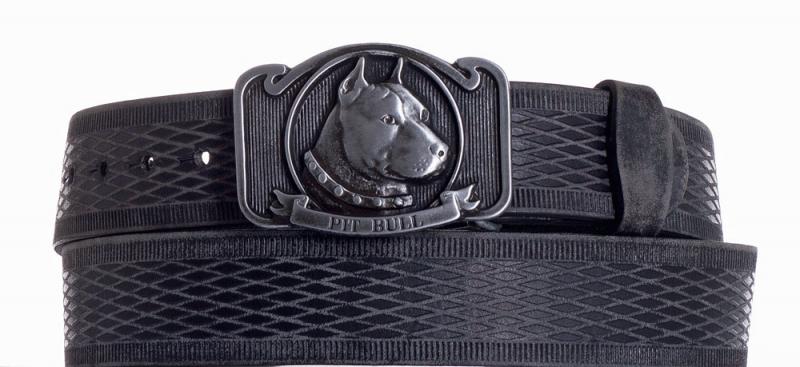 Kožené opasky - Kožený pásek Pitbull vrb