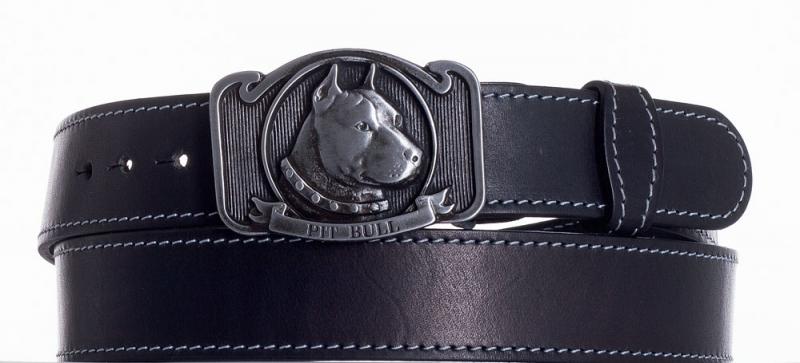 Kožené opasky - Kožený pásek Pitbull obš