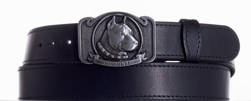 Kožené opasky - Kožený pásek Pitbull obč