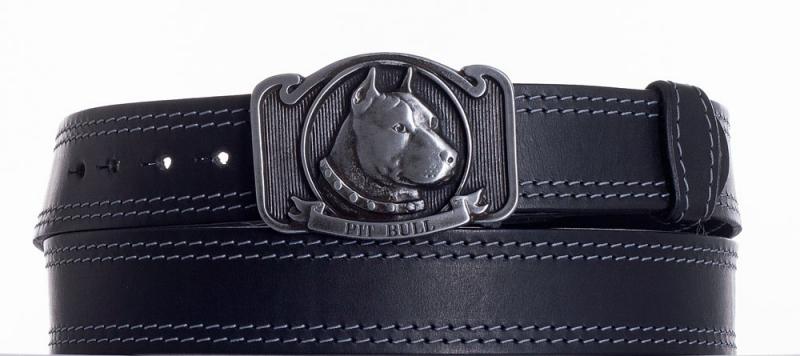 Kožené opasky - Kožený pásek Pitbull ob2š