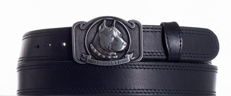 Kožené opasky - Kožený pásek Pitbull ob2č