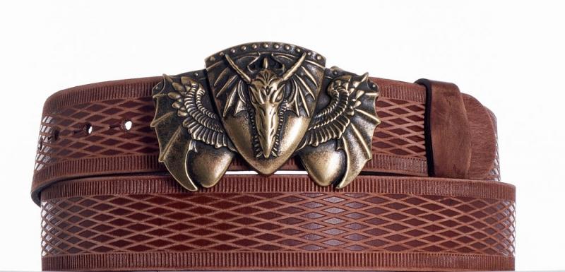 Kožené opasky - Kožený opasek Drak vrb
