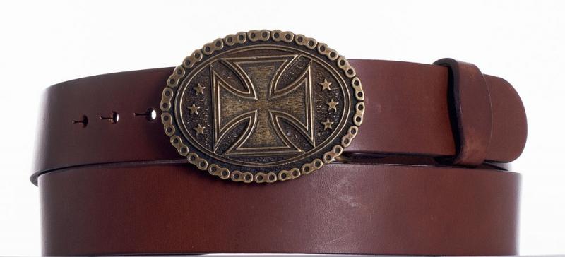 Kožené opasky - Kožený opasek kříž