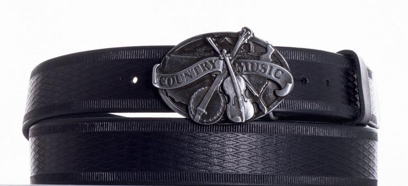 Kožené opasky - Kožený pásek Country music vr