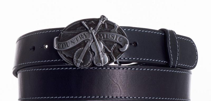 Kožené opasky - Kožený pásek Country music obš