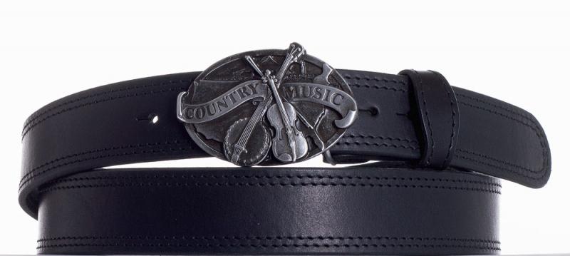 Kožené opasky - Kožený pásek Country music ob2č