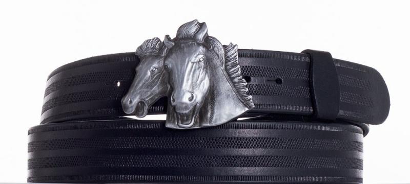 Kožené opasky - Kožený pásek Koně pr.