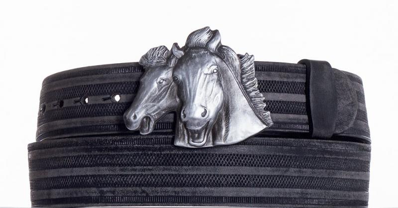 Kožené opasky - Kožený pásek Koně prb