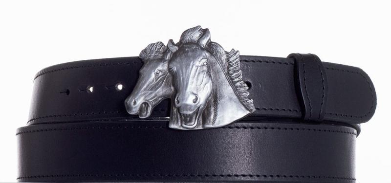 Kožené opasky - Kožený pásek Koně obč