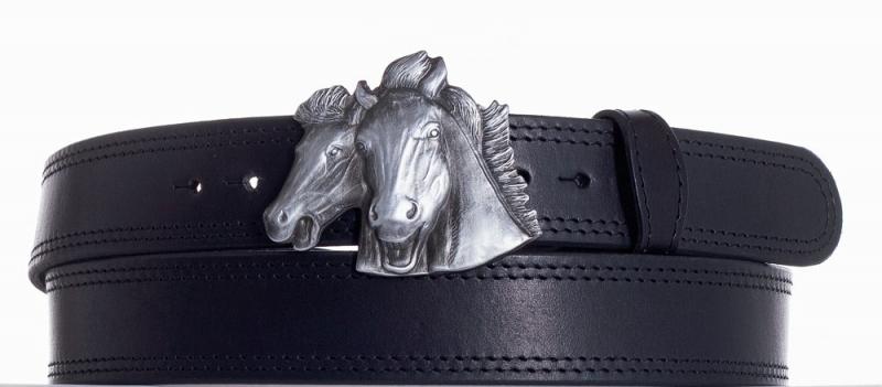 Kožené opasky - Kožený pásek Koně ob2č